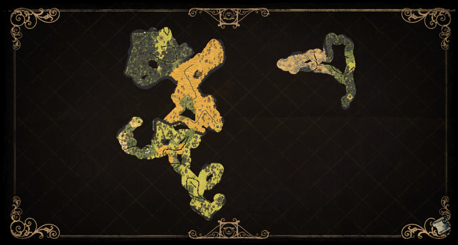 Explore your map in Don't Starve to survive