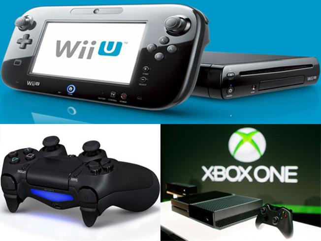The Wii U deluxe set is $299, the PS4 is $399, and the Xbox One is $499